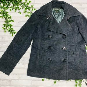 J. Crew Charcoal Double Breasted Pea Coat